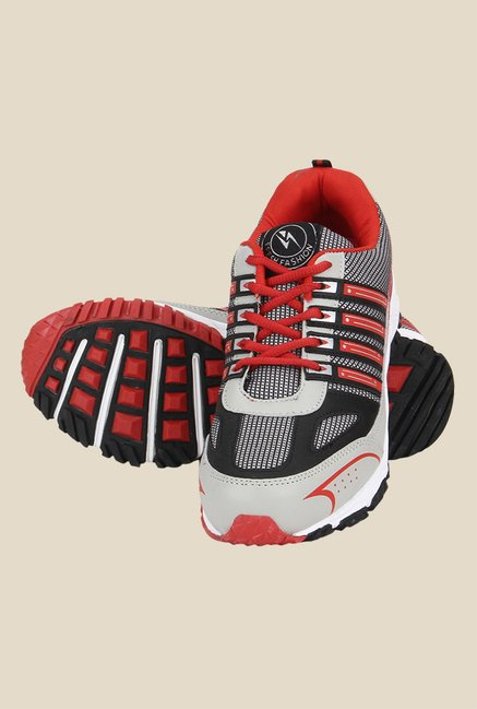 Yepme Premium Grey & Red Running Shoes
