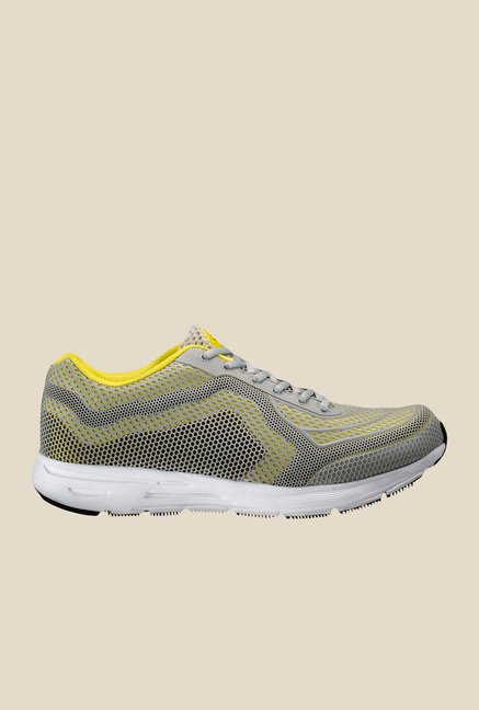 Yepme Grey & Yellow Running Shoes
