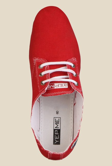 Yepme Red & White Running Shoes