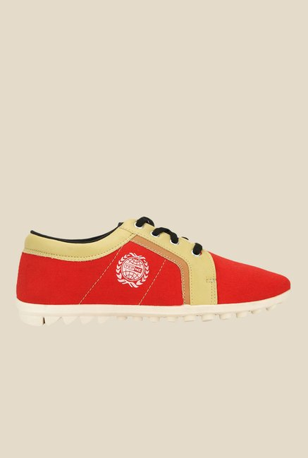 Yepme Red & Beige Running Shoes