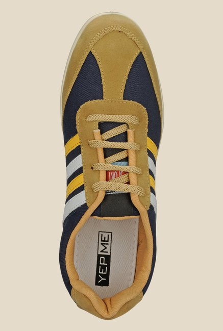 Yepme Navy & Mustard Running Shoes