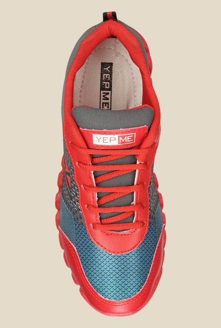 Yepme Red & Blue Running Shoes