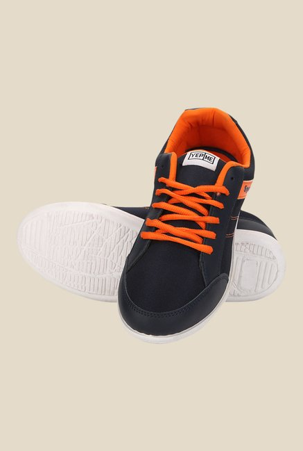 Yepme Navy & Orange Running Shoes