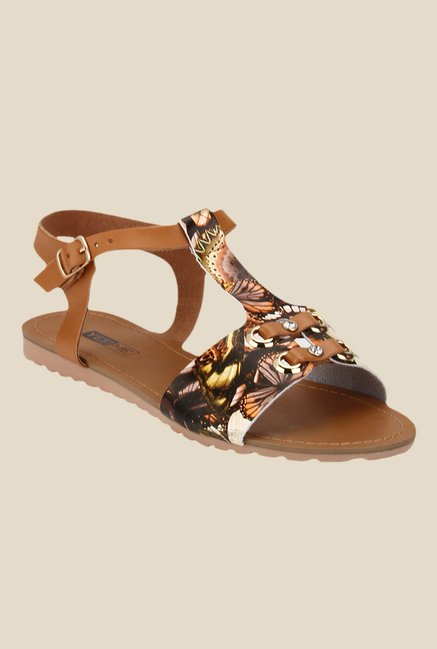Yepme Brown Ankle Strap Sandals