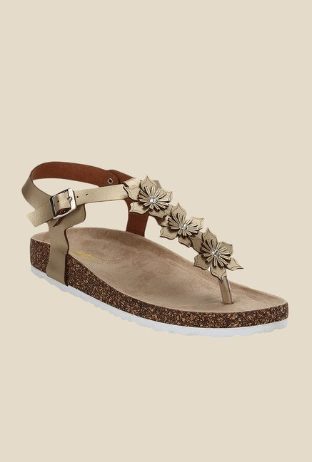 Yepme Golden Ankle Strap Sandals