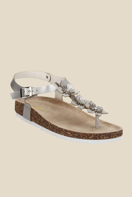Yepme Silver Ankle Strap Sandals