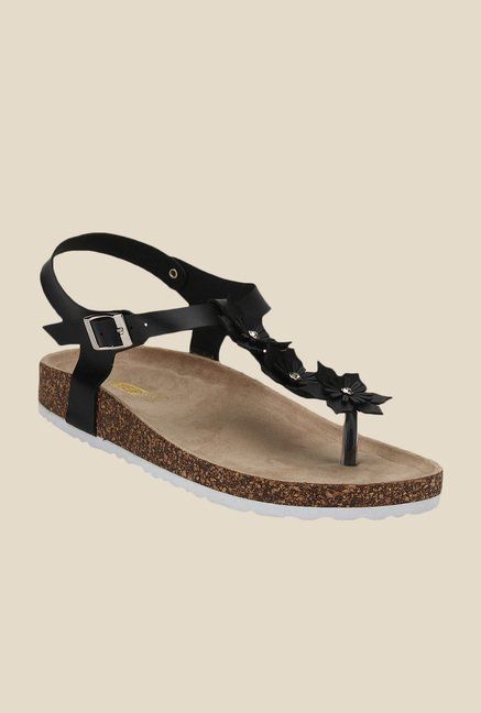Yepme Black Ankle Strap Sandals