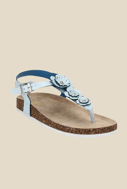 Yepme Sky Blue Ankle Strap Sandals