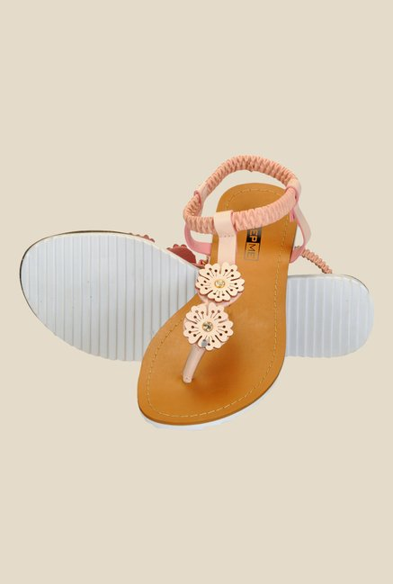 Yepme Peach Sling Back Sandals
