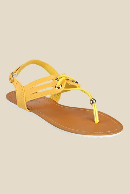 Yepme Yellow Back Strap Sandals