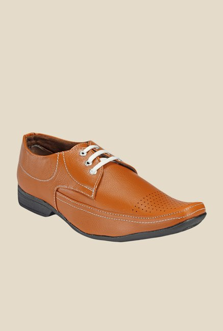 Yepme Tan Derby Shoes