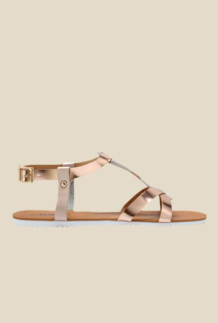 Yepme Copper Back Strap Sandals