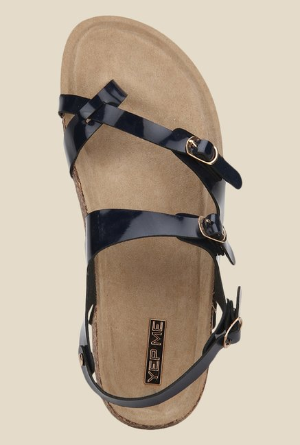 Yepme Black Back Strap Sandals