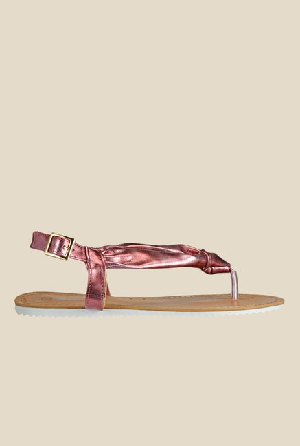 Yepme Maroon Back Strap Sandals