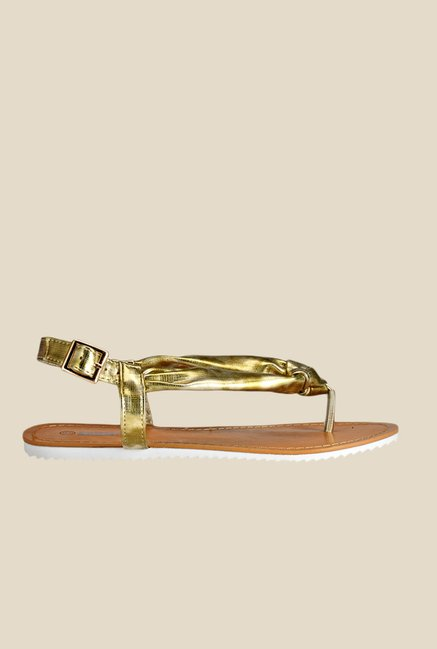 Yepme Golden Back Strap Sandals
