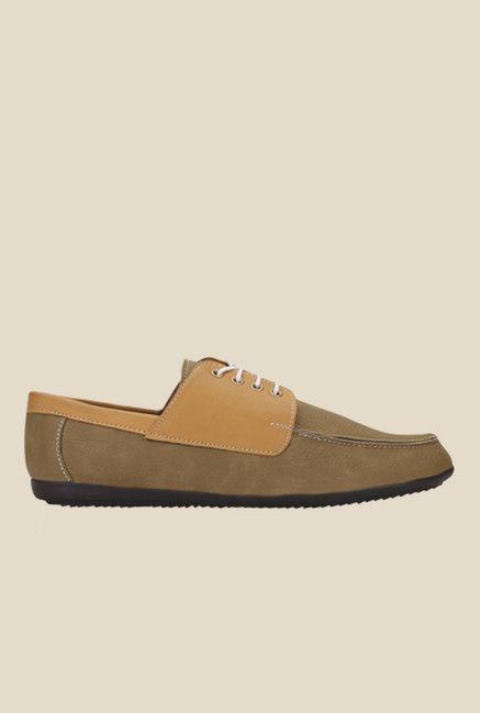 Yepme Khaki Derby Shoes