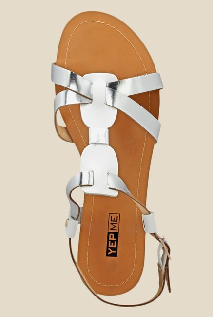 Yepme Silver Back Strap Sandals