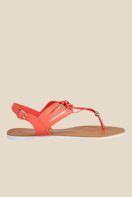 Yepme Coral Red Back Strap Sandals
