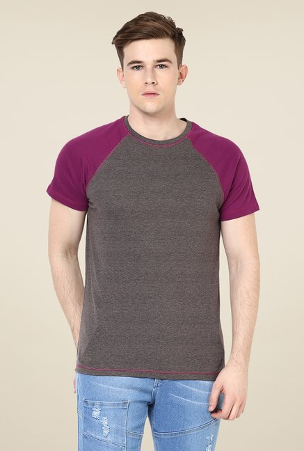 Yepme Stannis Raglan Grey Pin Striped T Shirt