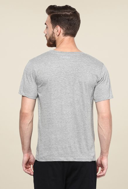 Yepme Grey Lionel High Performance Graphic Print T Shirt