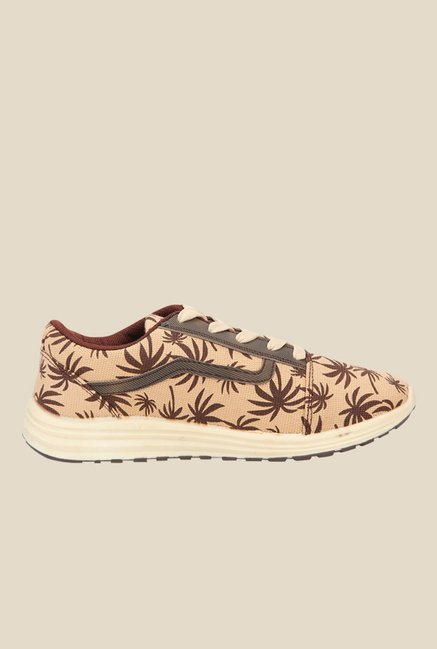Yepme Beige & Brown Sneakers