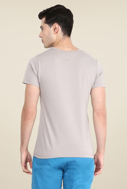 Yepme Perspective Grey Graphic Print T Shirt