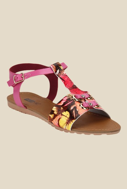 Yepme Pink Ankle Strap Sandals