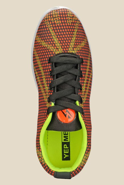 Yepme Orange & Green Sneakers