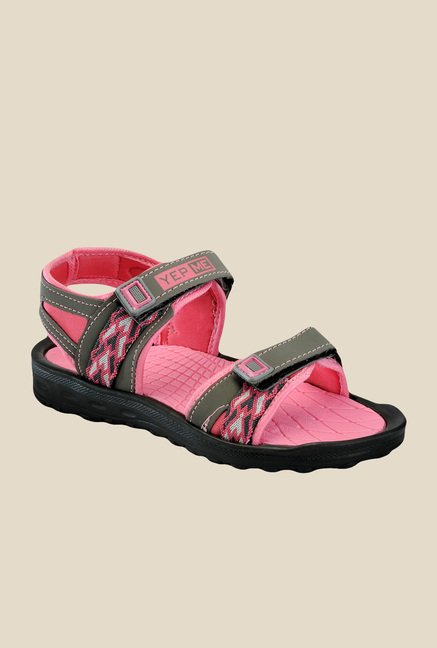 Yepme Grey & Pink Floater Sandals