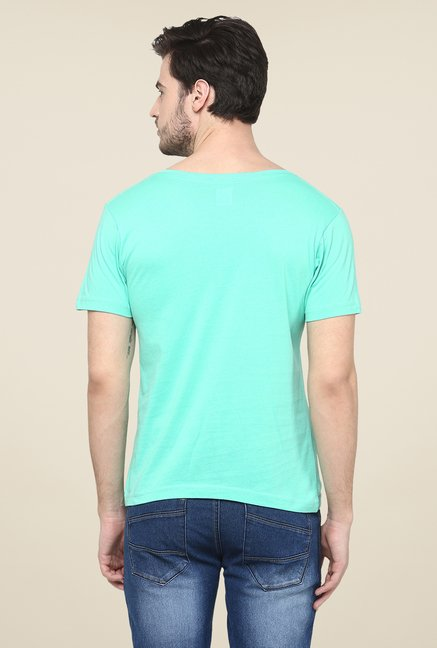 Yepme Aqua Graphic Print T Shirt