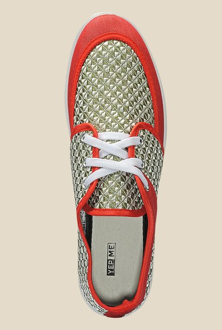 Yepme Green & Red Sneakers