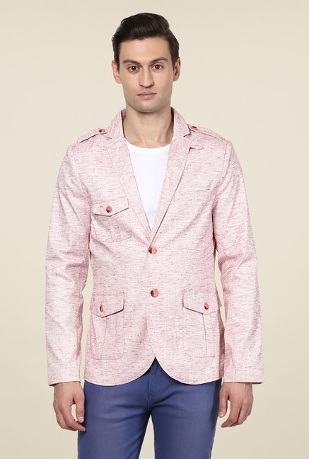 Yepme Light Pink Ashton Solid Blazer