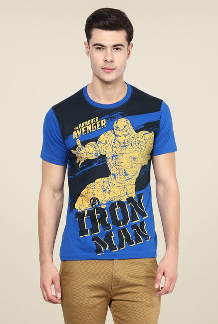 Yepme Marvel Iron Man Teardown Blue Printed T Shirt