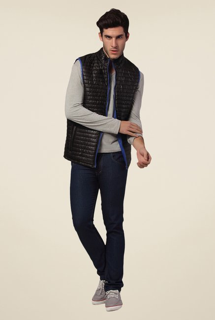 Yepme Black Altor Quilted Jacket