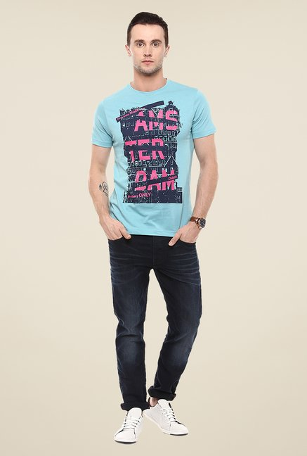 Yepme Amsterdam Blue Graphic Print T Shirt