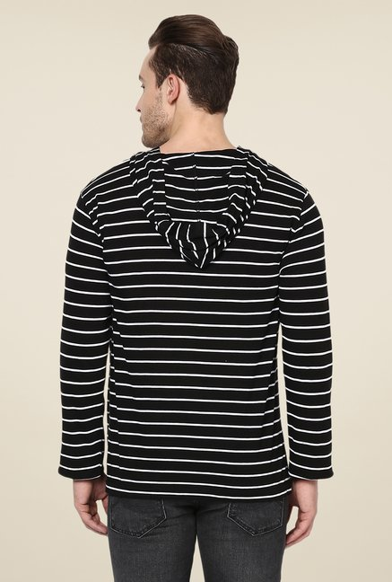 Yepme Black Francesco Striped T Shirt
