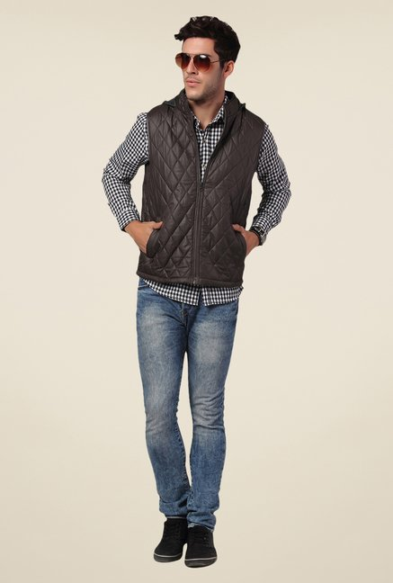 Yepme Brown Rixton Quilted Jacket