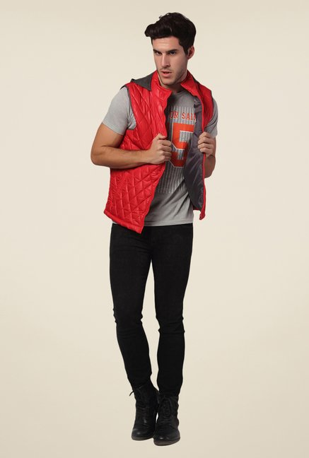 Yepme Red Rixton Quilted Jacket
