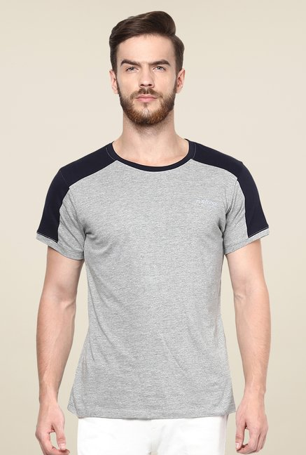 Yepme Grey Tim High Performance Active Solid T Shirt