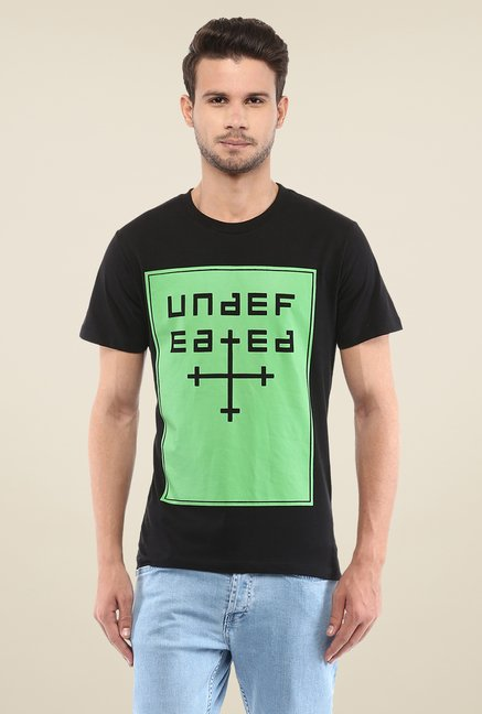 Yepme Undefeated Black Graphic Print T Shirt