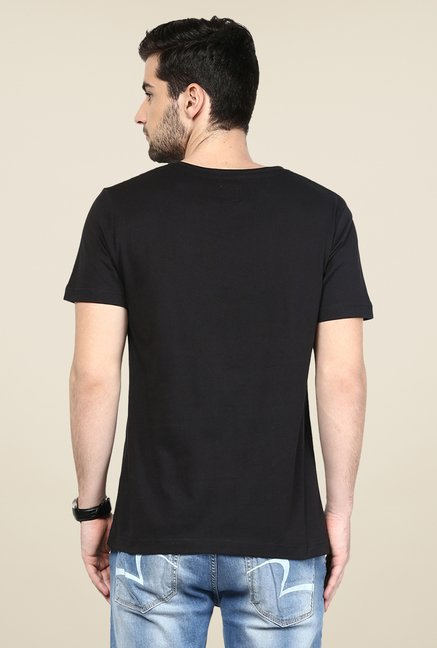 Yepme Black Graphic Print T Shirt