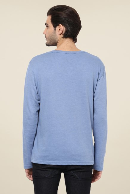 Yepme Alessandro Blue Solid T Shirt