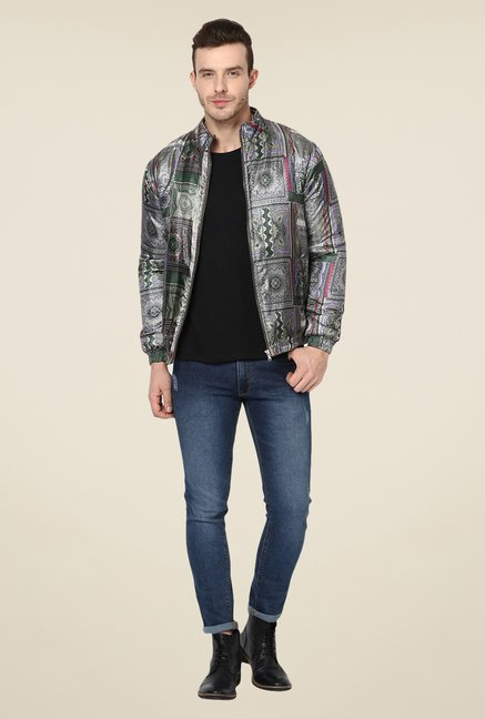 Yepme Grey Trent Printed Jacket
