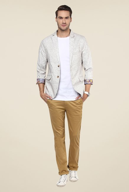 Yepme Off White Kerron Textured Blazer