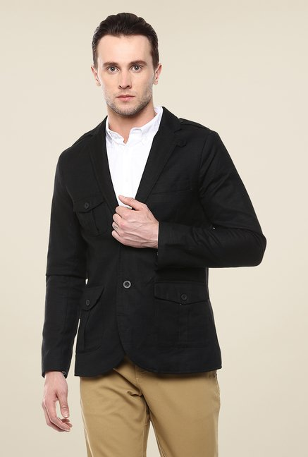 Yepme Black Ashton Solid Blazer