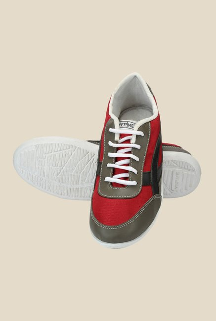 Yepme Red & Grey Sneakers