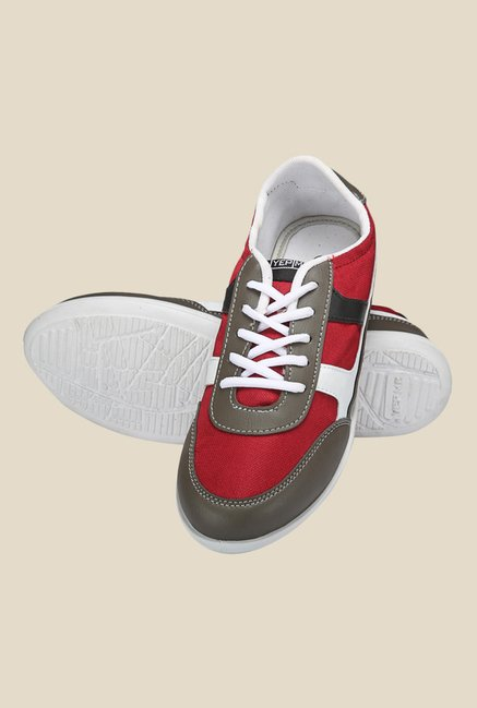 Yepme Grey & Red Sneakers