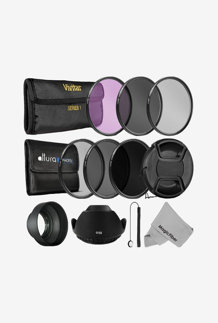 Goja 58 mm Lens Filter Accessory Kit (Black)