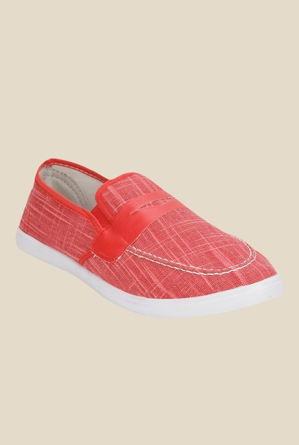 Yepme Red & White Plimsolls