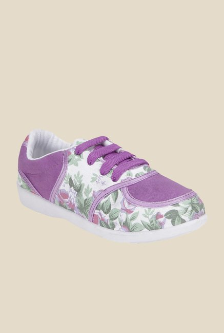 Yepme White & Purple Sneakers